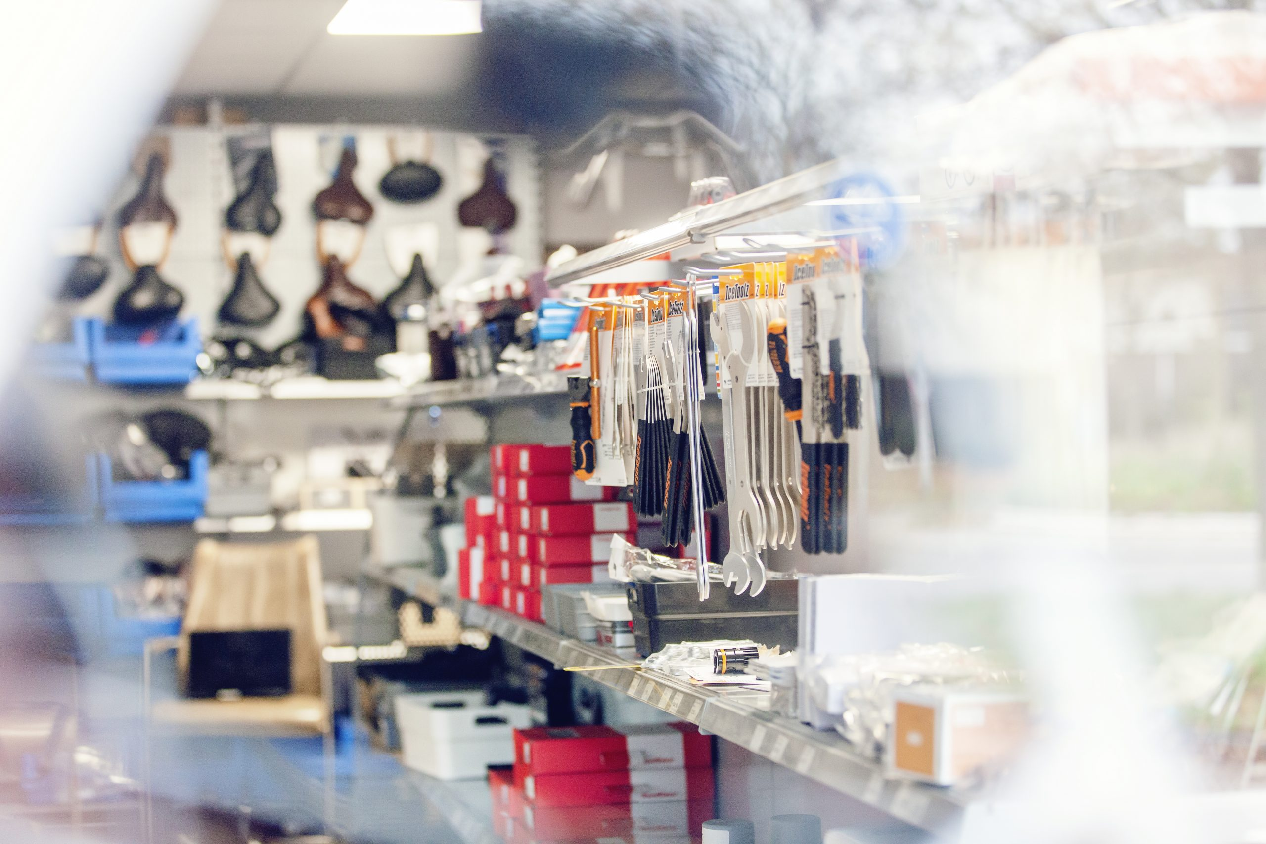 Fietsonderdelen winkel
